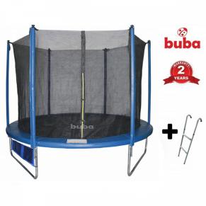 Buba 10FT (306см) 10FT - Батут с вътрешна мрежа, стълба и джоб за обувки