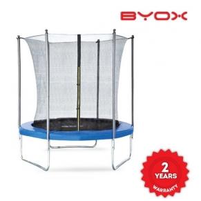 Byox - Детски батут с вътрешна мрежа (183 см) + дъждобран