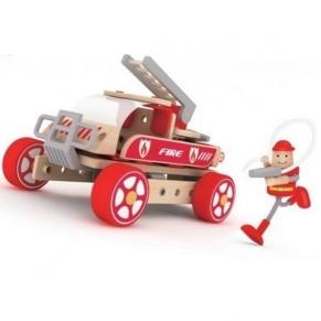 Classic world Пожарникарска кола - Дървен конструктор за деца