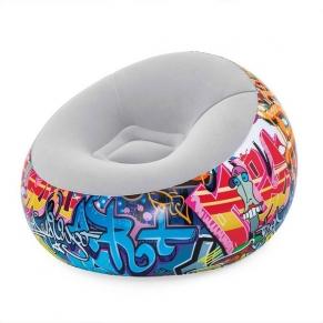 BESTWAY GRAFFITI - Надуваемо кресло топка 112x112x66см.