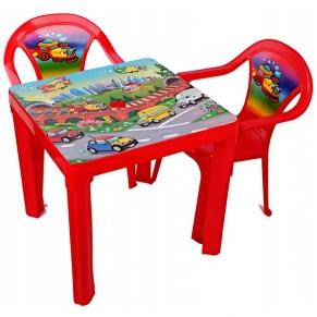 3toysm - Детска маса с 2 столчета