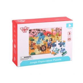Tooky toy Safari - Дървен пъзел 25 ел.