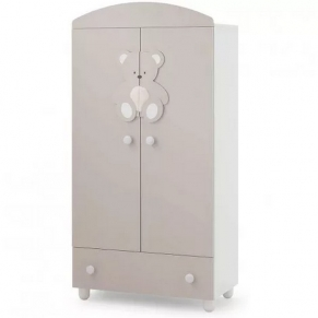 Italbaby PELUCHE CHOCO - Двукрилен гардероб