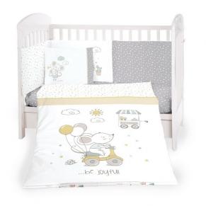KikkaBoo Joyful Mice - Бебешки спален комплект 6 части 60/120