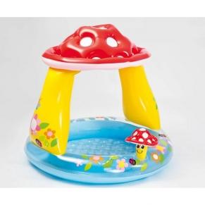 INTEX Mushroom - Бебешки надуваем басейн със сенник Гъбка