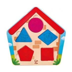 Hape - Дървен пъзел Кой е в къщата