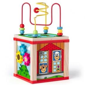 Woodyland - Дидактически цветен образователен куб