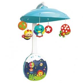 HOLA - Бебешка музикална въртележка - проектор и нощна лампа, с музика и светлина
