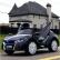 Акумулаторна кола тип BMW 12V с дисплей / MP4 тъчскрийн, меки гуми и кожена седалка