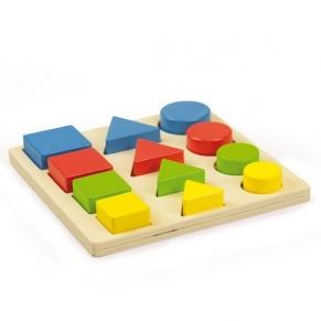 Andreu toys Дървена образователна играчка - Форми, размери, цветове