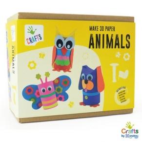 Andreu toys - Направи сам 3D животни от хартия