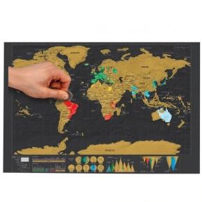 Chippo - Карта на света за изтриване, 82 x 60см
