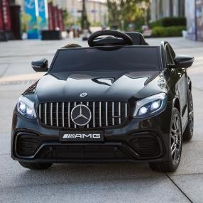 Акумулаторен джип Mercedes GLC63 Coupe 4х4 с MP4, меки гуми и кожена седалка, 2021 година