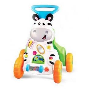 Moni Little Zebra 2в1 - Музикална играчка за прохождане