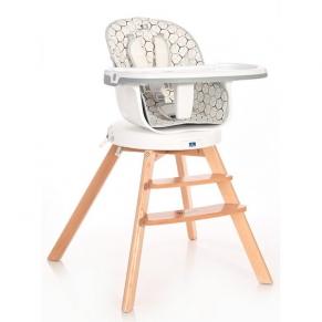 Lorelli Napoli с дървени крака и ротация - Стол за хранене