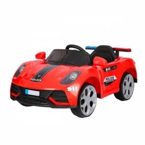 Акумулаторна кола Security с меки гуми и кожена седалка