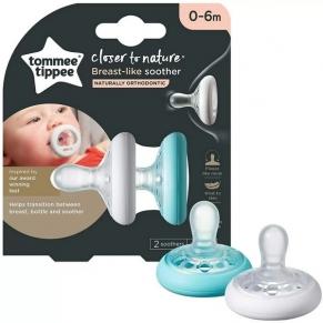 Tommee Tippee Breast-Like - Ортодонтични залъгалки 0-6м. (2 бр./оп.)