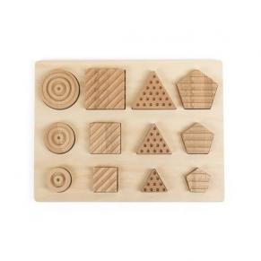 Andreu toys Форми - Сензорен пъзел от натурално дърво