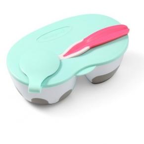 Babyono - Кутия с две отделения и прибор