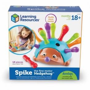 Learning resources Таралежа Спайк - Бебешка играчка за фина моторика