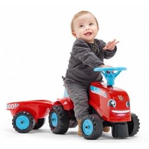 Falk - Детски трактор с ремарке – червен
