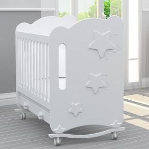 Bambino Casa Stelle Bianco - Бебешко креватче Бяло