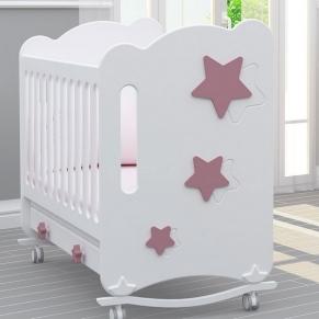 Bambino Casa Stelle Rosa - Бебешко креватче Розово