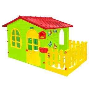 Mochtoys - Къща с ограда и дъска за рисуване