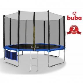 Buba - Детски батут 14FT (427 см) с мрежа и стълба