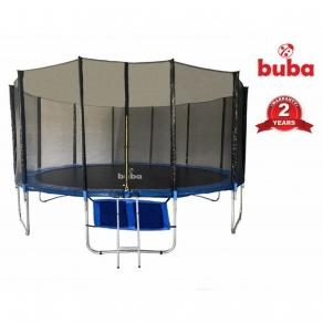 Buba - Детски батут 16FT (488 см) с мрежа и стълба