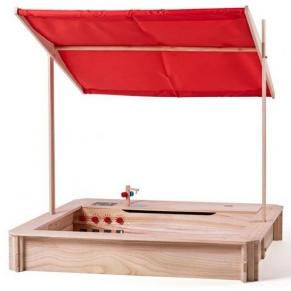 Woodyland - Детски пясъчник с покрив и кухня, 2 в 1